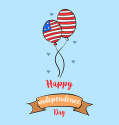 Happy independence day card style collection vector