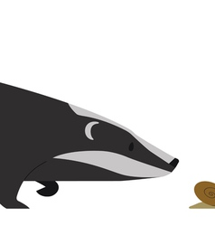 Hunting Badger vector image vector image