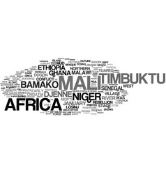 Mali word cloud concept vector