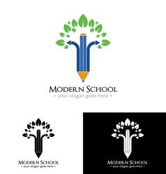 Modern School Logo vector image