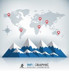 Mountain infographic vector