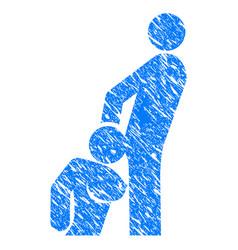oral sex persons grunge icon vector image vector image