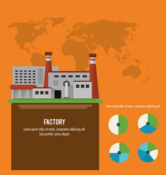 plant infographic map earth factory icon vector image