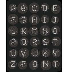 Polygonal geometric font vector image