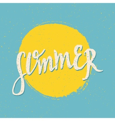 retro style summer design greeting card vector image vector image