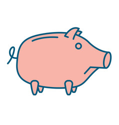 sad piggy bank or money box vector image
