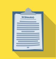 scenariomaking movie single icon in flat style vector image vector image