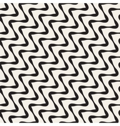 Seamless Black and White ZigZag Diagonal vector image vector image