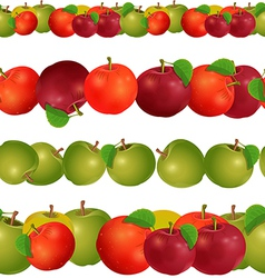 seamless border of apples seamless border of vector image vector image