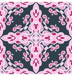 Seamless geometric pattern damask vector