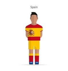 Spain football player soccer uniform vector