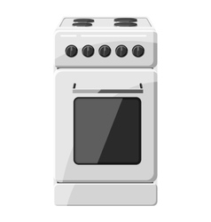Stove for cooking icon gray monochrome style vector