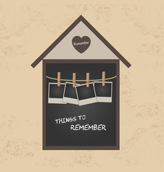 things to remember vector image