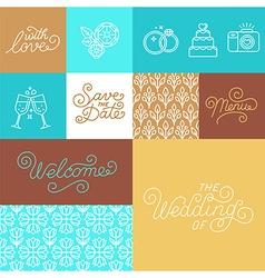 Wedding invitation design set vector image