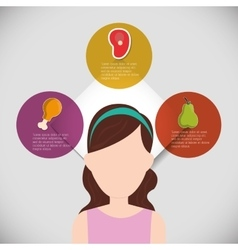 woman girl healthy lifestyle design vector image