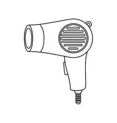 Hairdryer salon hairdresser isolated vector
