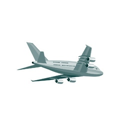 Commercial jet plane airliner vector