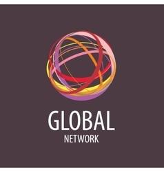 logo global network vector image