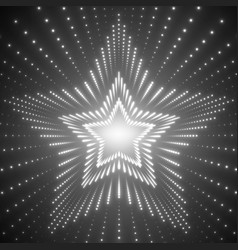 Infinite star tunnel of shining vector