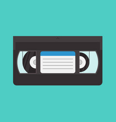 Vhs cassette in a flat style vector