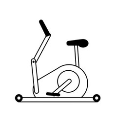 Stationary bicycle sport flat vector