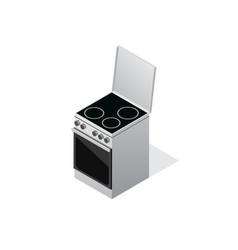 isometric stove icon vector image