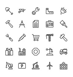 Industrial line icons 2 vector