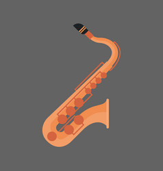 saxophone icon wind music instrument concept vector image