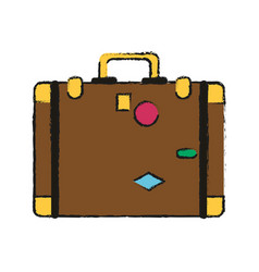Travel suitcase bag vector