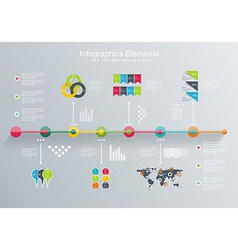 Time line design template vector