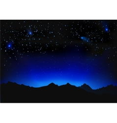 Beautiful night space landscape vector