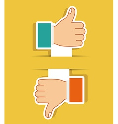 Hands gesture design vector