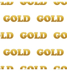 Word GOLD pattern vector image