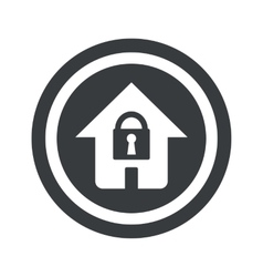 Round black locked house sign vector