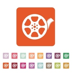 The video icon movie symbol flat vector