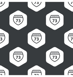 Black hexagon interstate 73 pattern vector