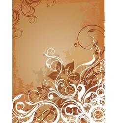 Floral background design vector
