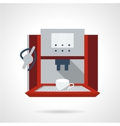 Electronic coffee machine flat icon vector