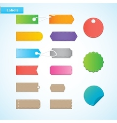 Price tags labels vector