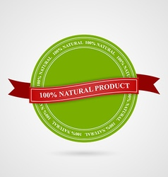 Eco style stamp banner and label vector