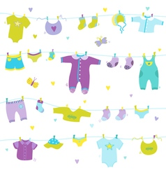 Baby boy cute background - for baby shower vector