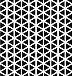 Monochrome hexagonal triangle pattern design vector