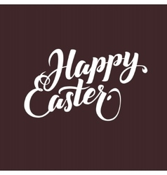 Happy easter typographical background hand vector