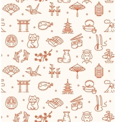Japan background seamless vector
