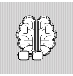 Flat about brain design vector