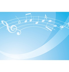 Light blue music background with gradient vector