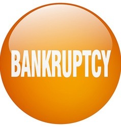 Bankruptcy orange round gel isolated push button vector