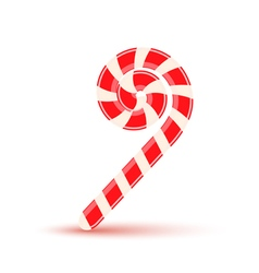 Sugar stick christmas candy isolated vector