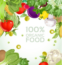 Vegetarian vegetable organic food background vector
