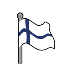 Flag icon finland design graphic vector